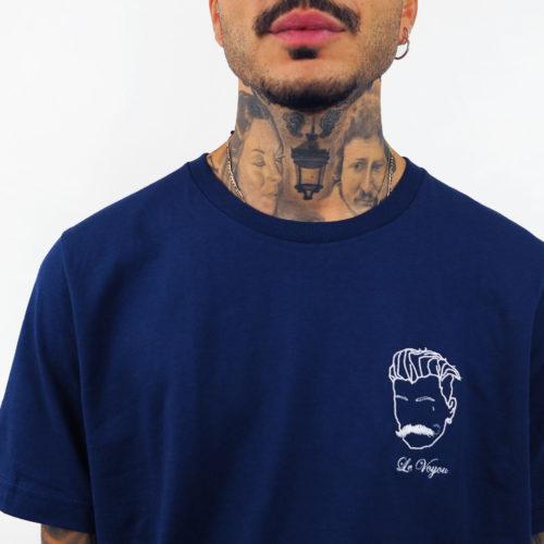 tee-shirt bleu marine brodé Edgard Paris