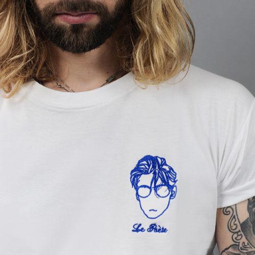 t-shirt brodé le poète edgard paris créateur