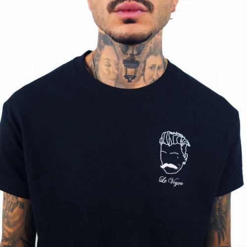 tee-shirt noir brodé le voyou Edgard Paris