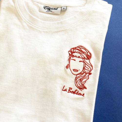Tee-shirt brodé femme La Bohème made in France