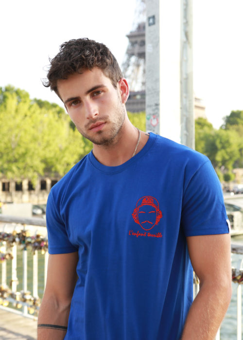 tee-shirt bleu créateur Edgard Paris