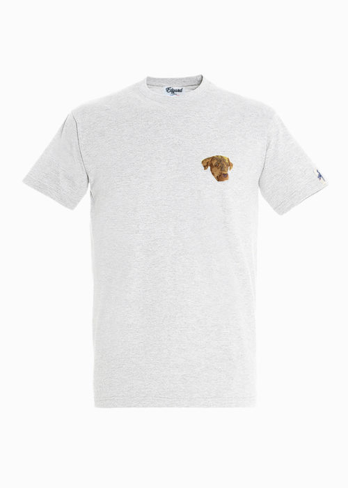 tee-shirt brodé chien edgard paris