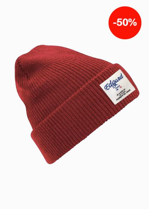 Bonnet rouge hiver homme