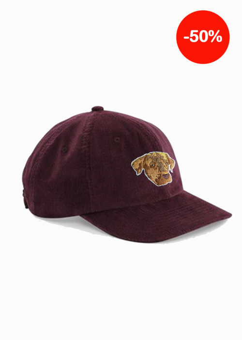 Casquette bordeaux broderie made in france