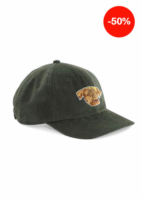 Casquette verte broderie made in france