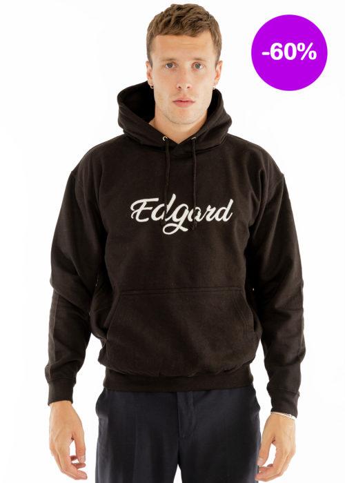 Hoodie noir capuche logo