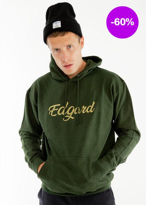 Sweat-shirt homme vert logo hoodie