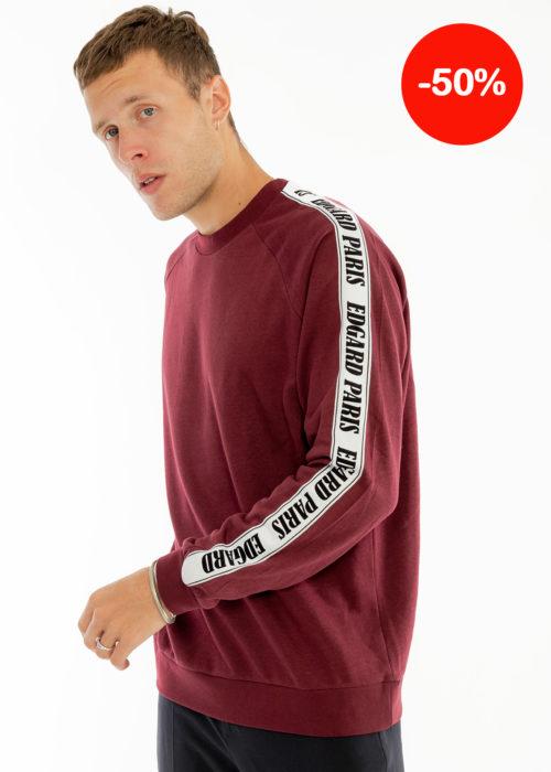 Sweat-shirt bandes Bordeaux Edgard Paris