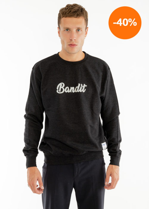 Sweat-shirt homme noir bandit