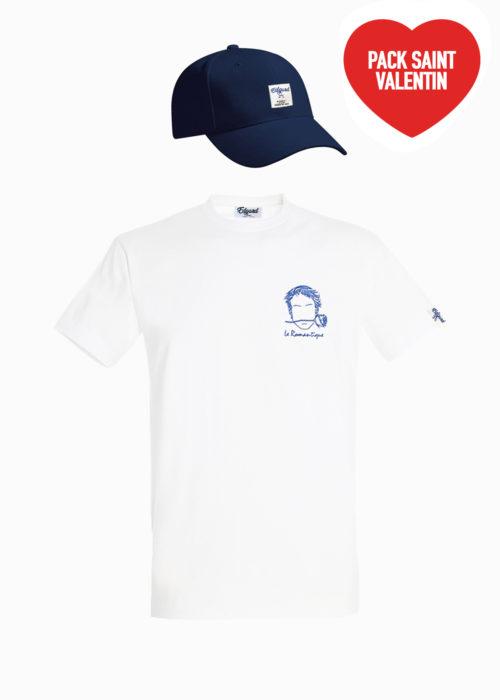 Saint-Valentin pack homme Tee-shirt casquette Edgard Paris