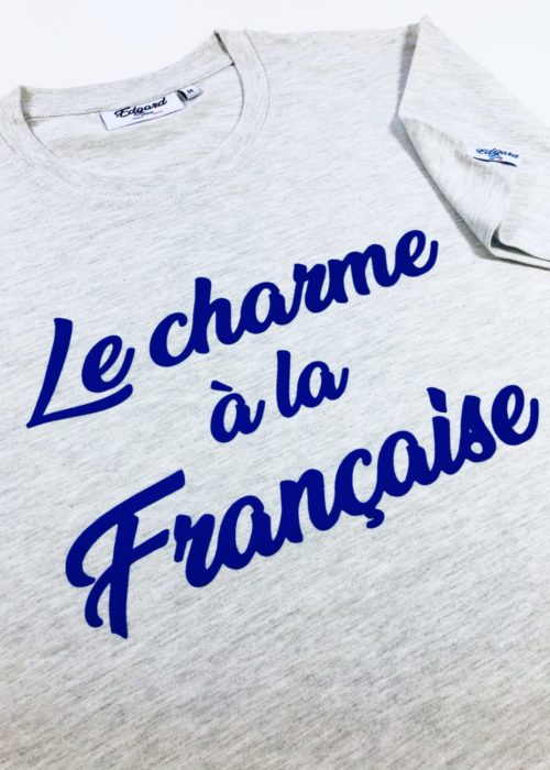 tshirt à message made in france edgard paris
