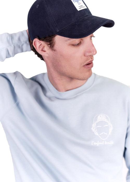 sweatshirt made in france brodé vêtements edgard paris