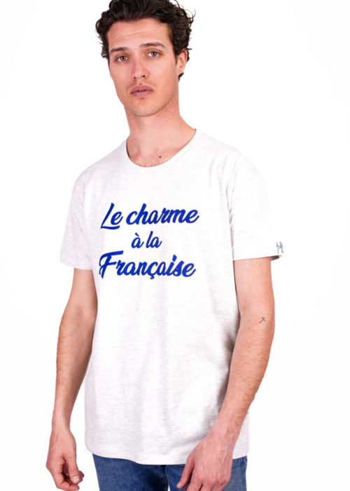 Tee-shirt made in France gris chiné le charme à la française