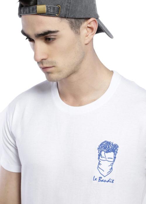 T-shirt brodé blanc bandit