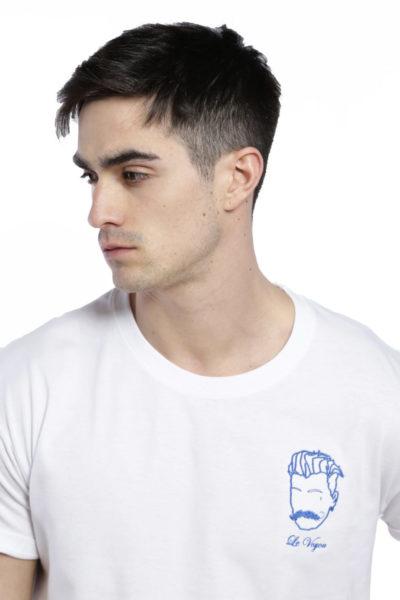 T-shirt brodé blanc voyou