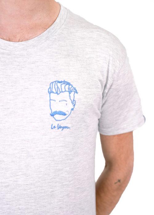 t-shirt brodé français Voyou