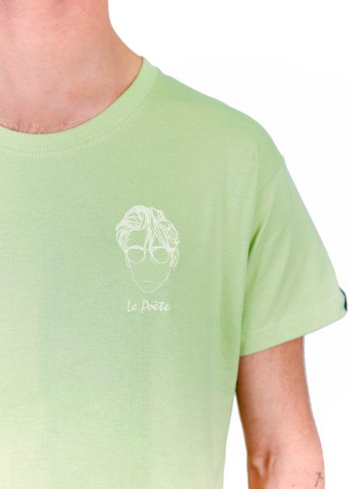 t-shirt brodé français Poète