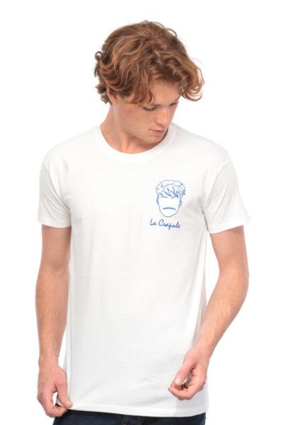 T-shirt La Crapule blanc Edgard Paris