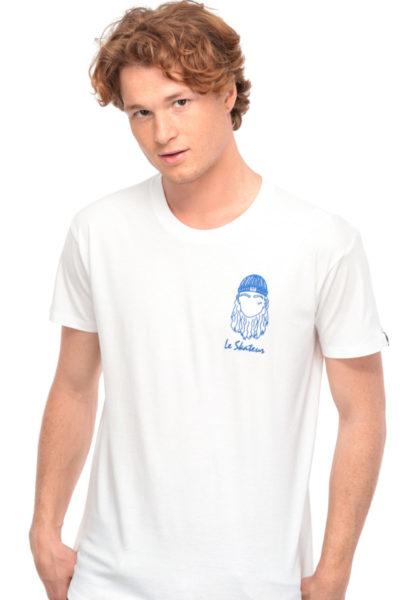 T-shirt Le Skateur blanc Edgard Paris
