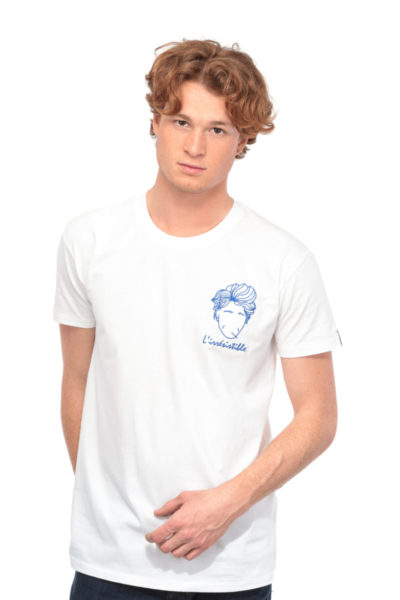 T-shirt L'irrésistible blanc Edgard Paris