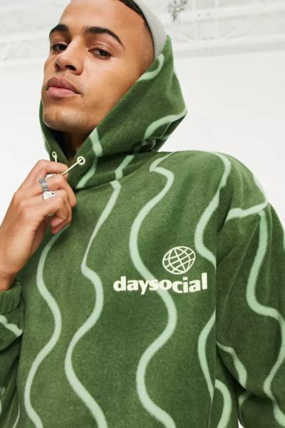 hoodie à capuche vert