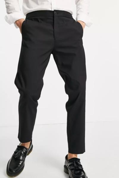 pantalon habillé noir homme